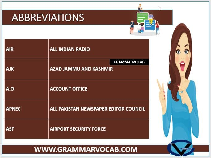 ABBREVIATIONS FOR WORDS 2