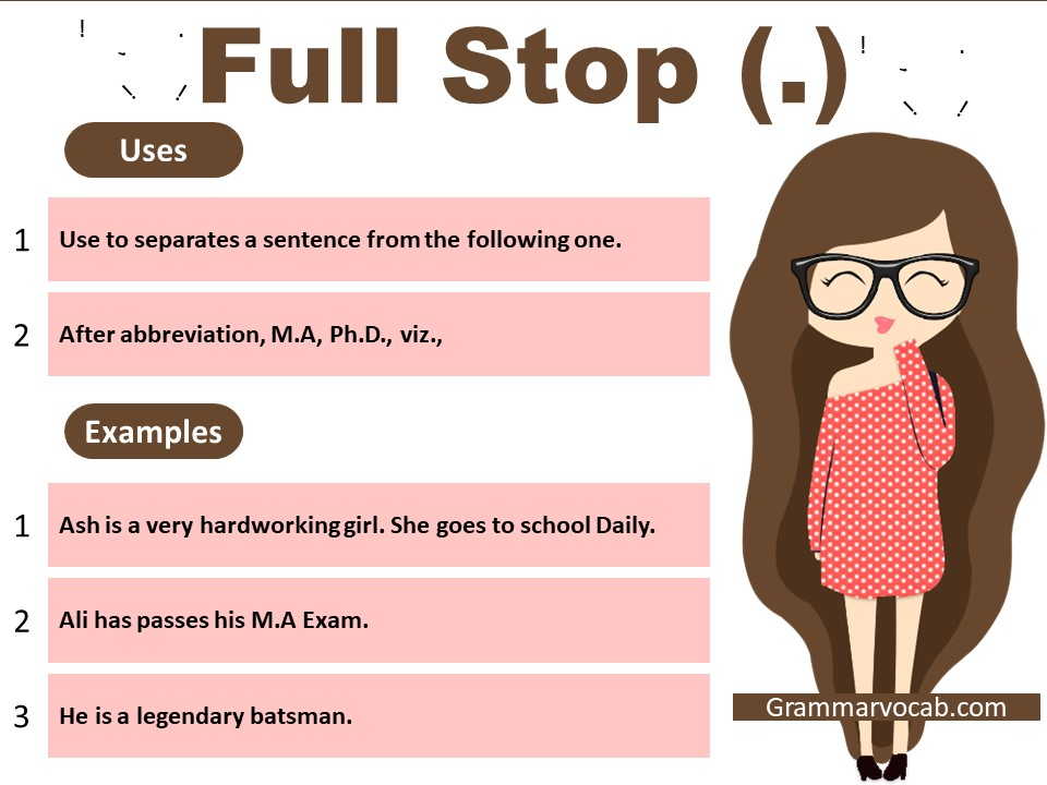 use of full stop