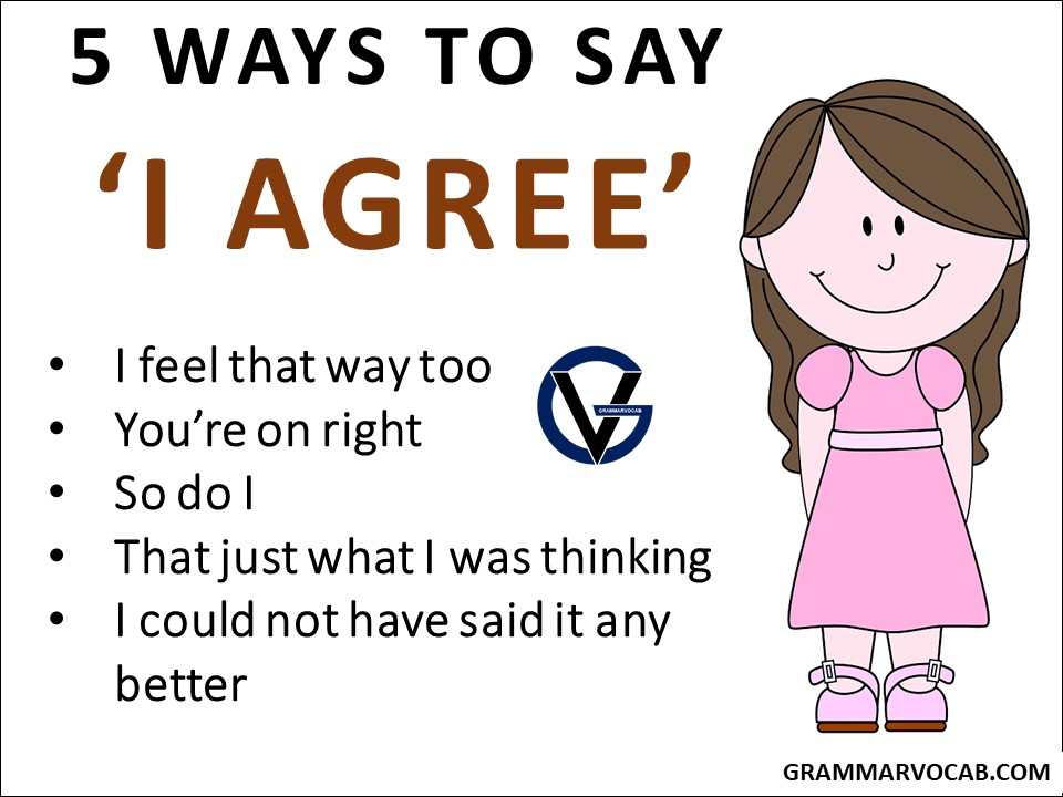 ways to say agree