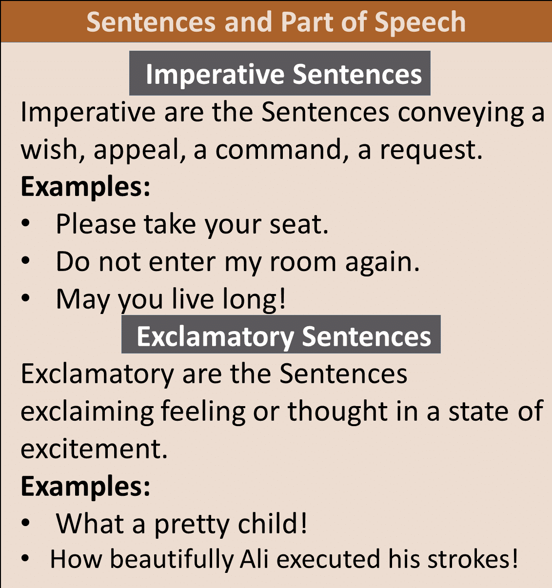 imperative and exclamatory sentence