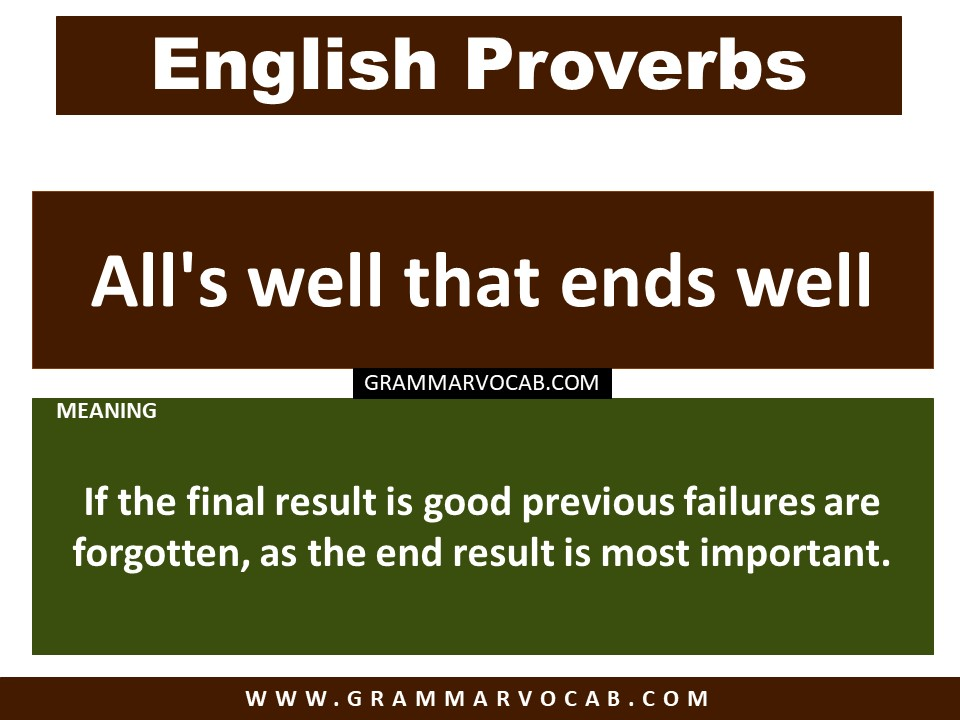 proverbs with meaning