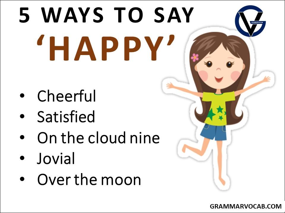 ways to say happy