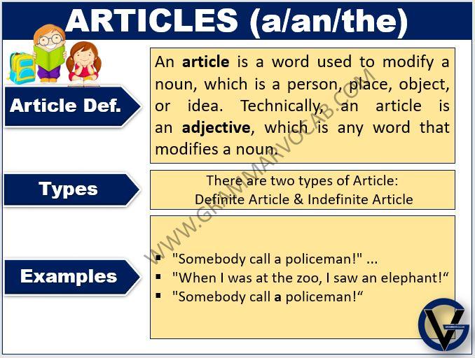 article in english grammar