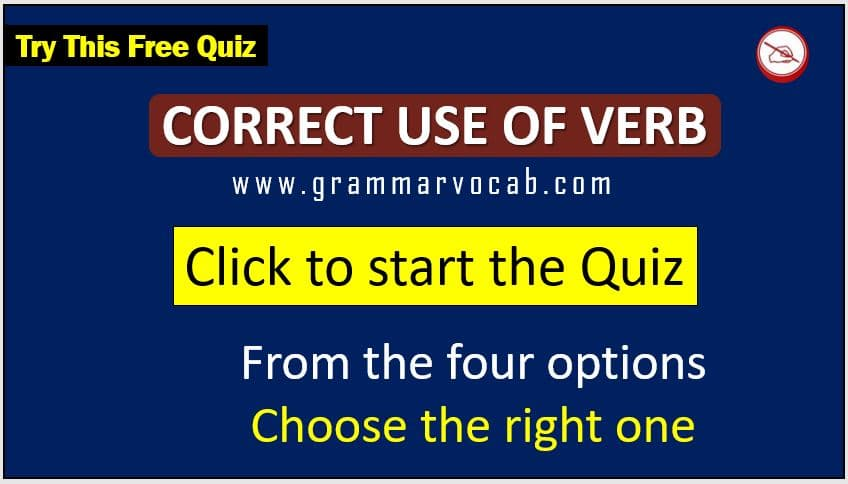 correct use of verb