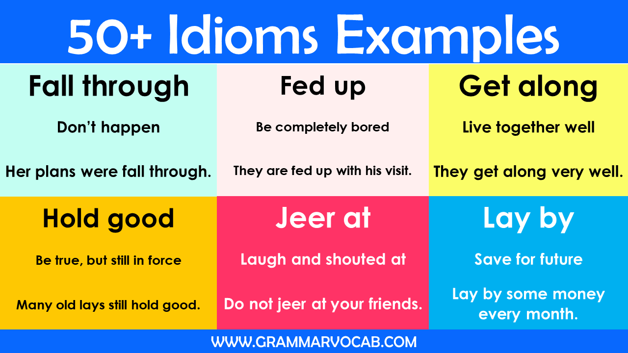 idioms examples for students