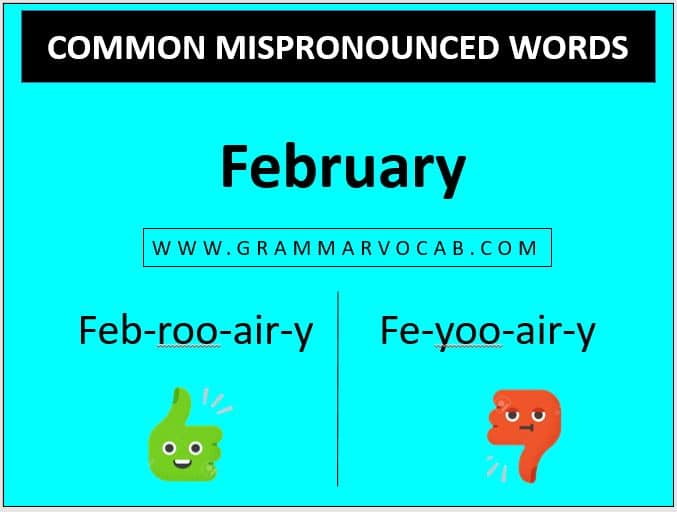 mispronounciation