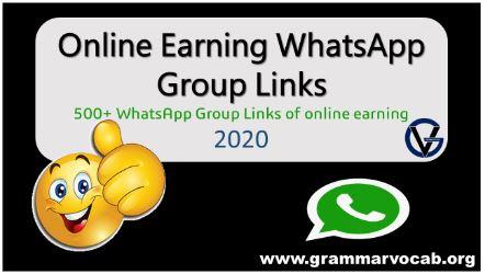 online earning whatsapp group links