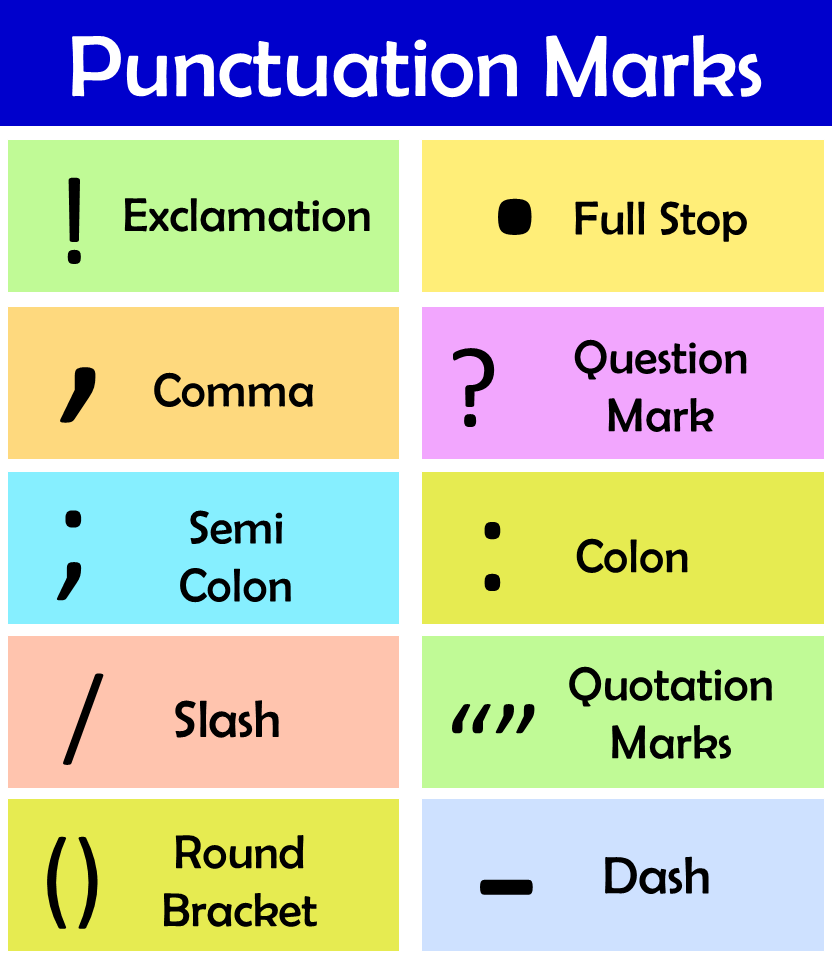 examples of punctuation marks
