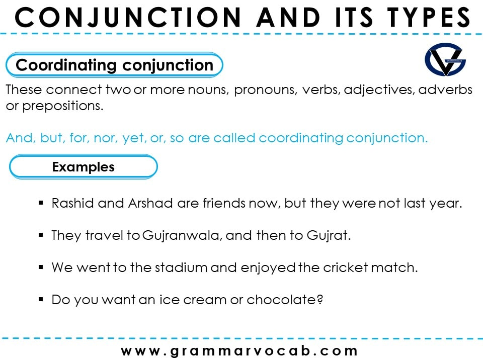 Conjunction and its Types