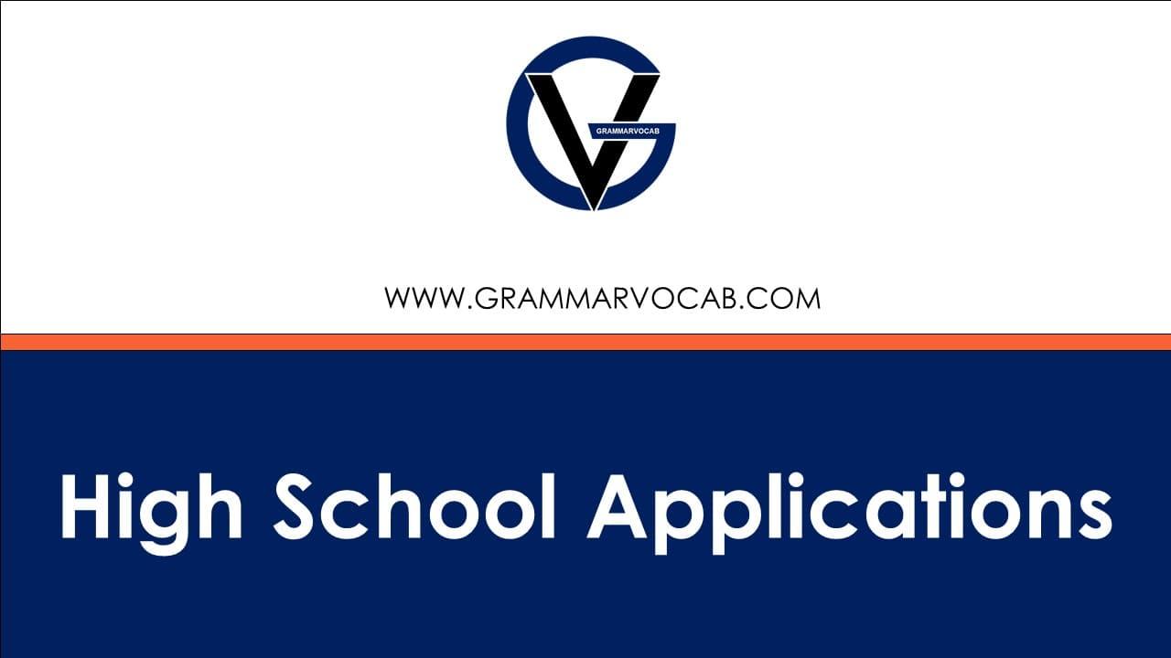 high school application