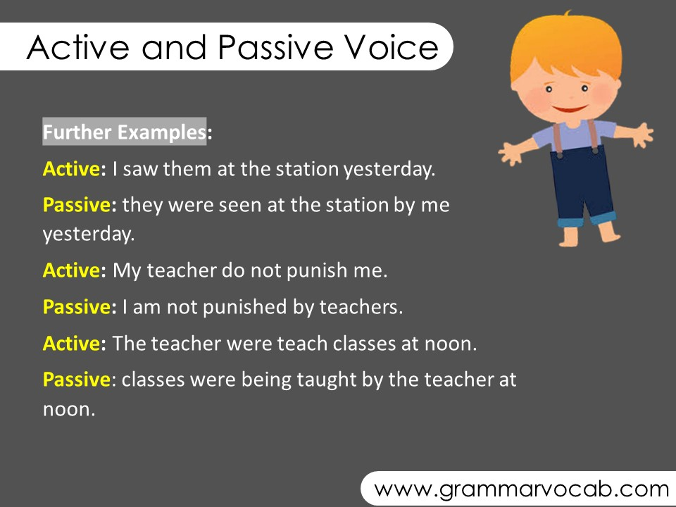 active and passive voice examples
