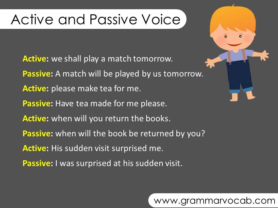 active into passive voice