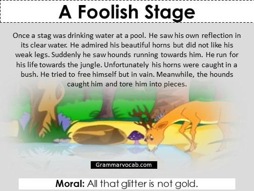 a foolish stage