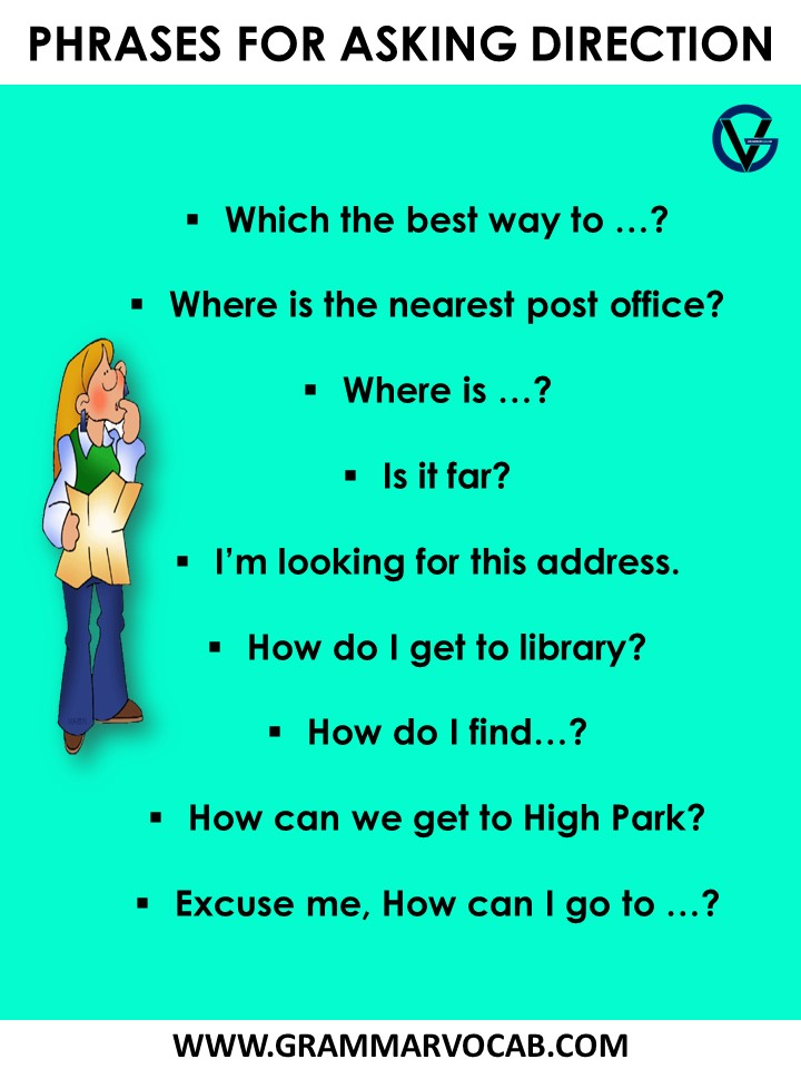 phrases for asking direction
