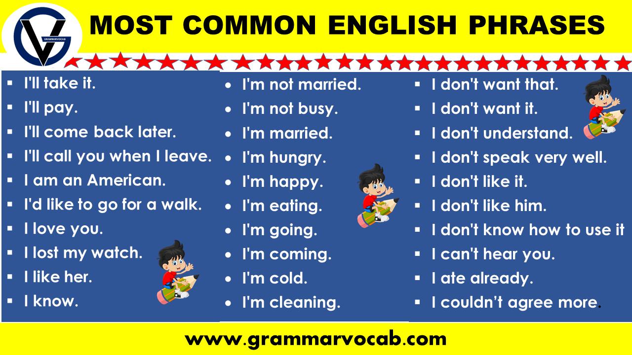 Most common English phrases
