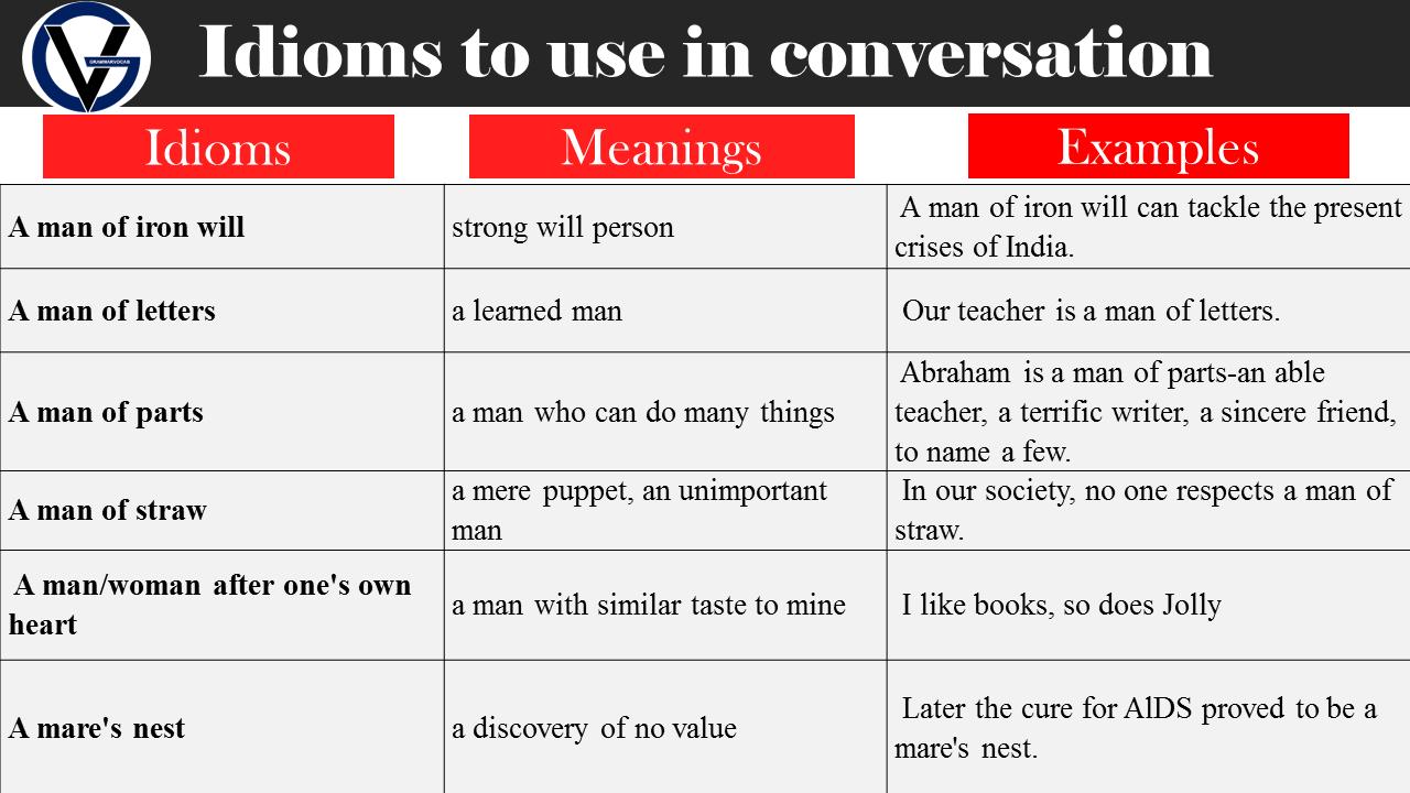 conversational idioms