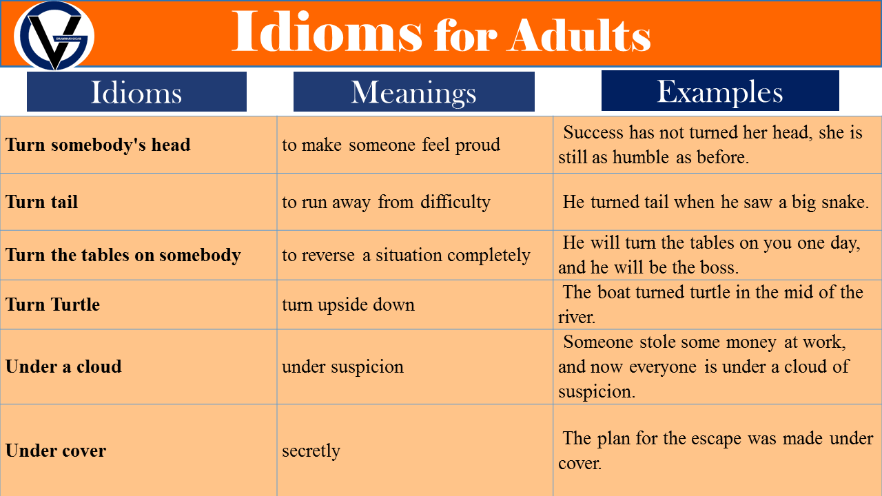 idioms for adult