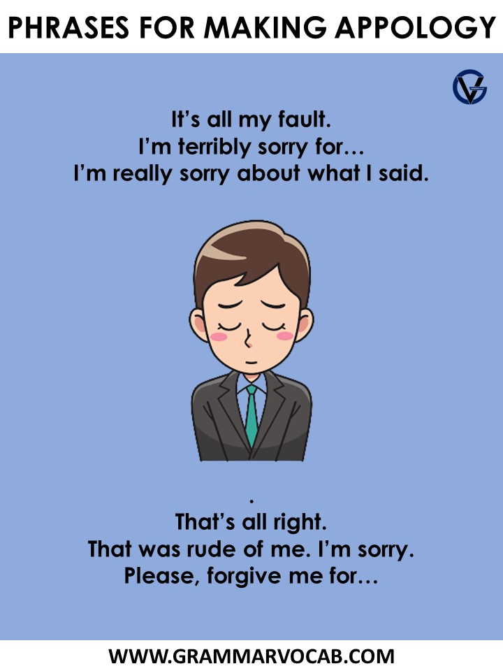 phrases for making apology