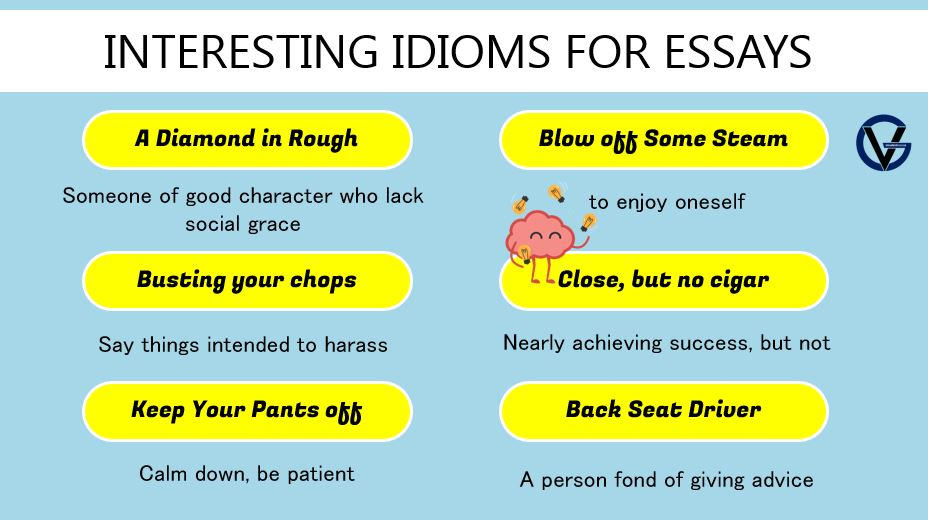 interesting idioms for essay writing