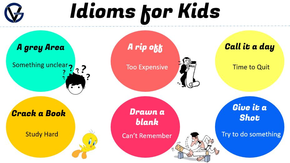 idioms list for kids