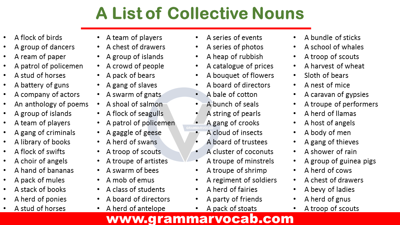 list of collective nouns