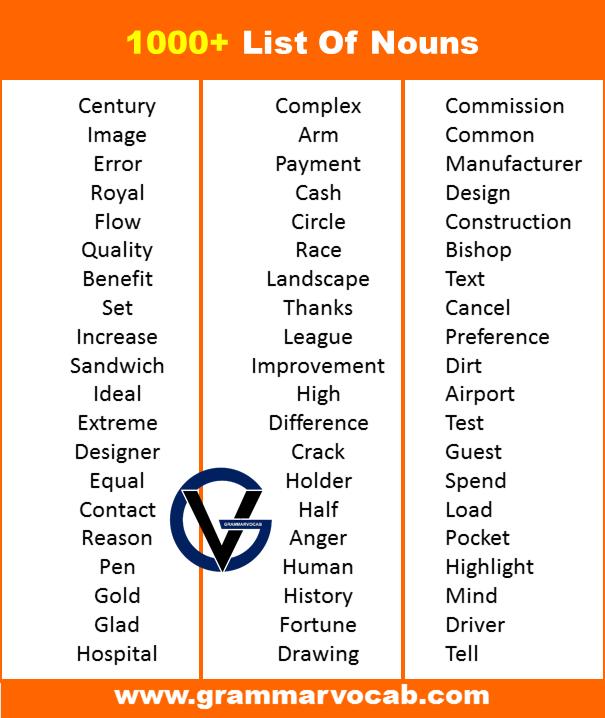 nouns in english pdf