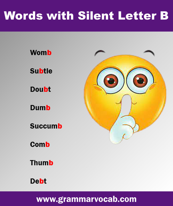 word with silent B