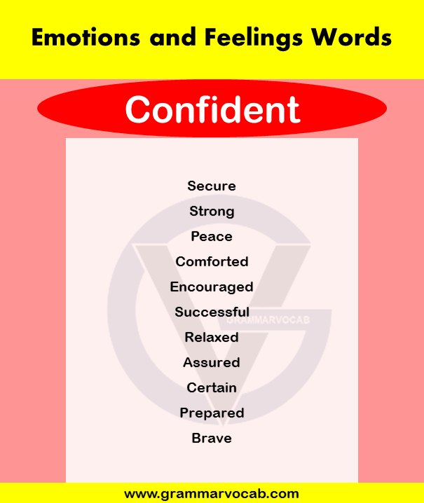 Emotions and Feelings Words