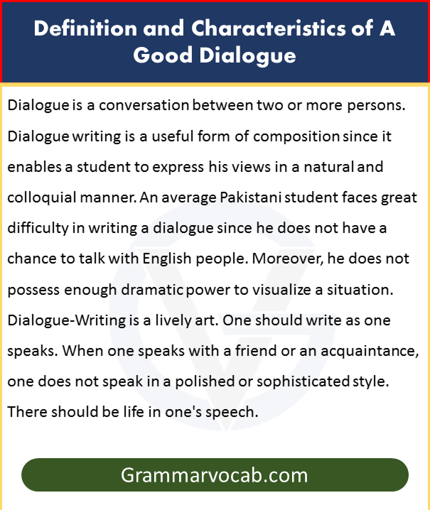 Basic Rules for Dialogue writing