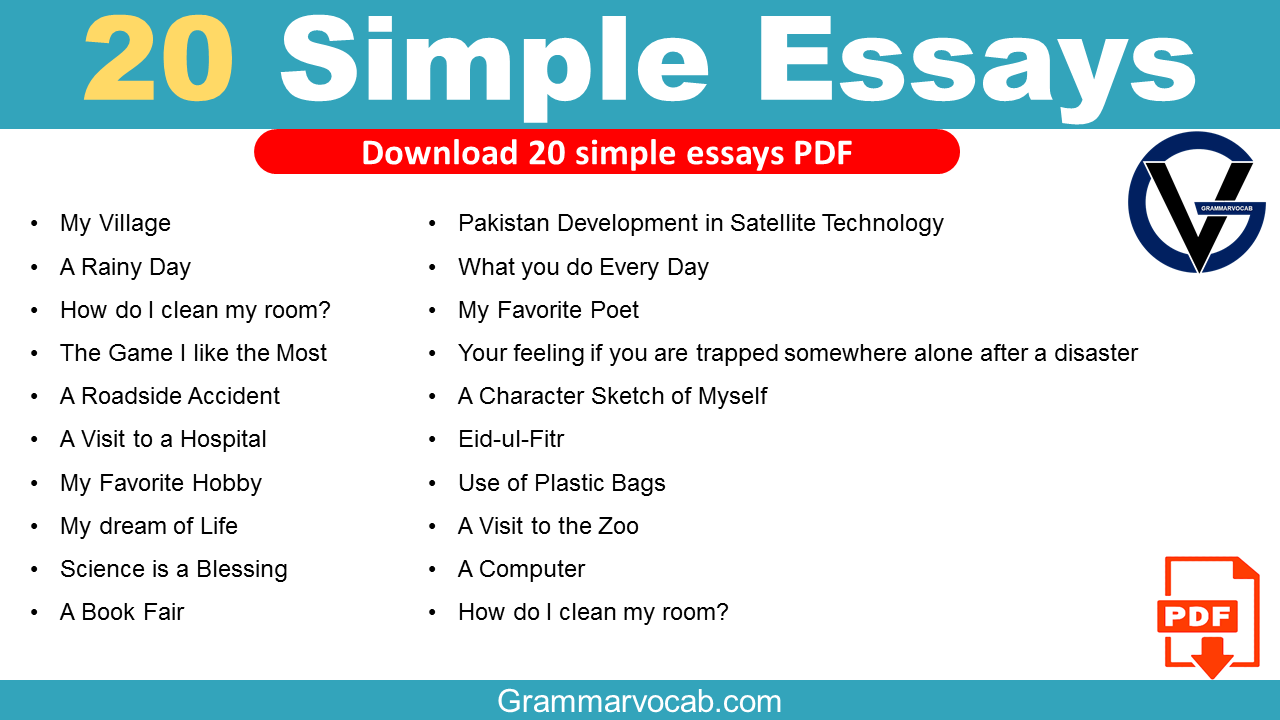 Simple Essays for Students