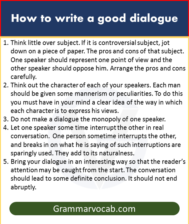Good dialogue rules